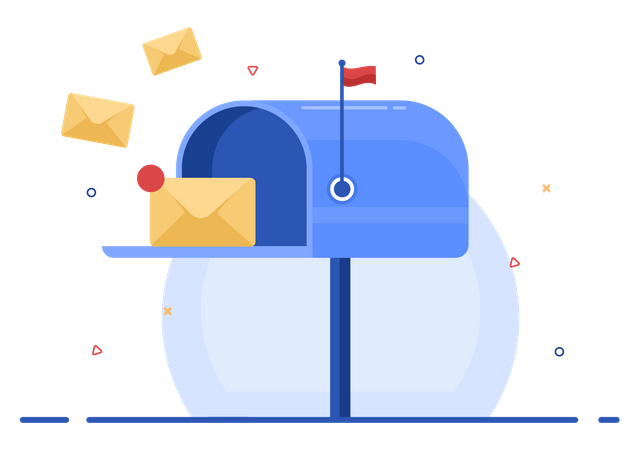 Mail box with letters Illustration