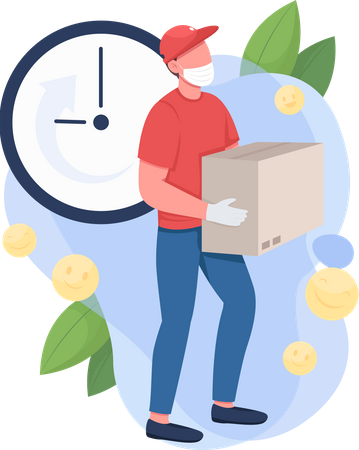 Mail courier Illustration