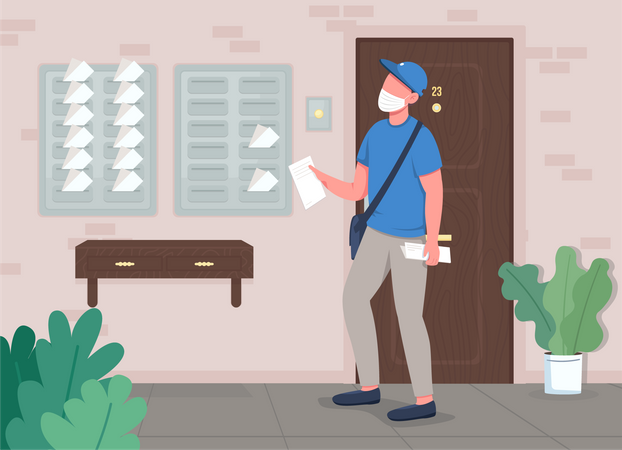 Mail delivery Illustration