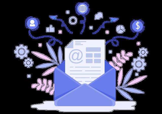 Mail Marketing Illustration