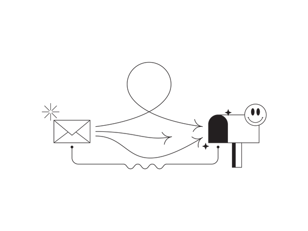 Mail sending time and process Illustration