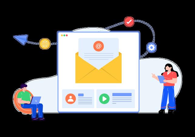 Mail service Illustration
