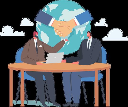 Make Agreement during Negotiations Illustration