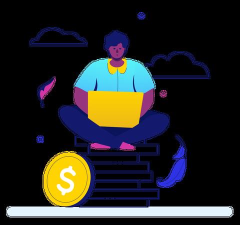 Making money Illustration