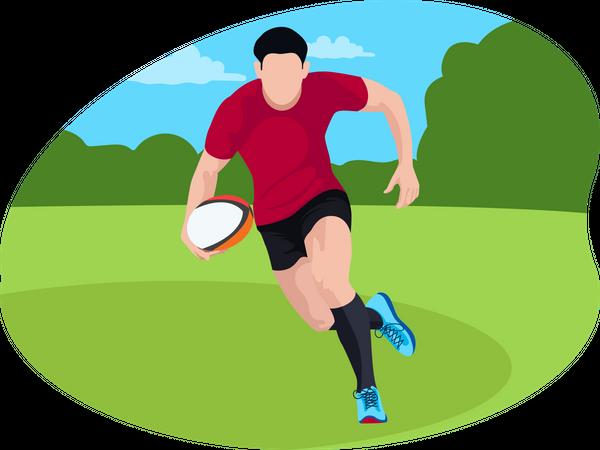 Male American footballer Illustration