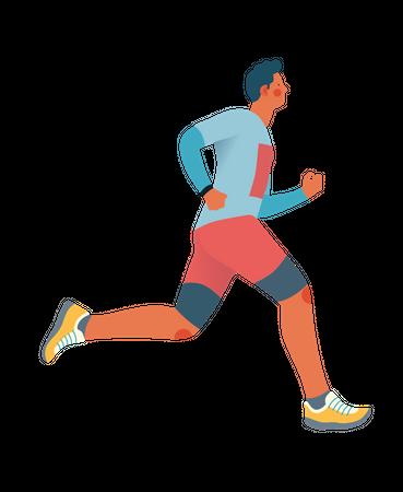 Male athlete Illustration