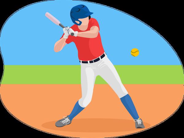 Male baseball player Illustration