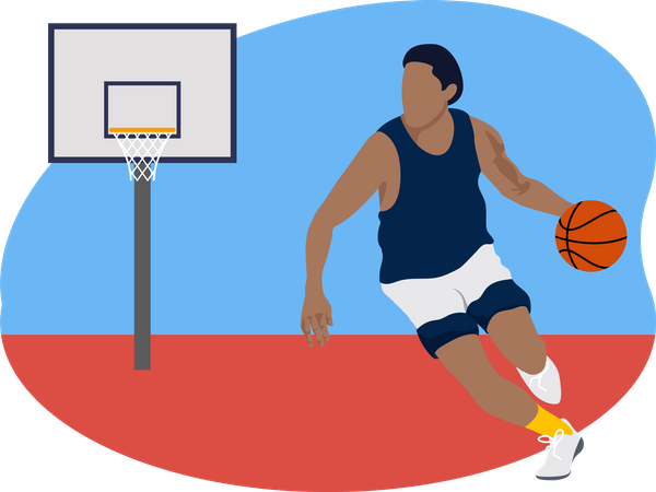 Male basketball player Illustration