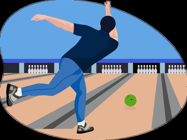 Male bowler Illustration