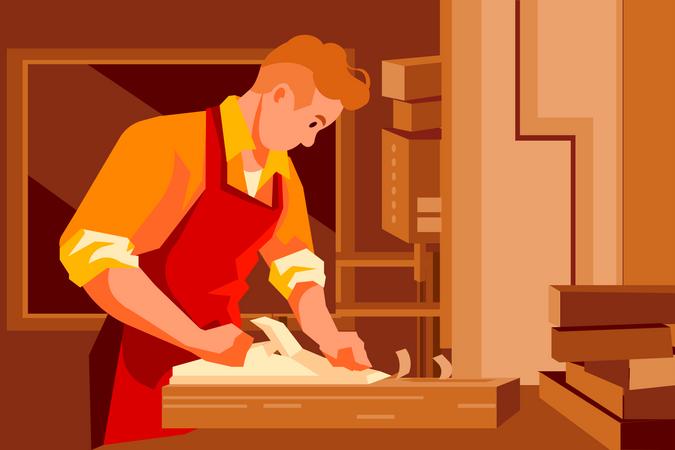 Male carpenter Illustration