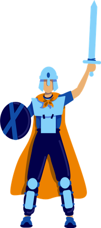Male cosplayer Illustration