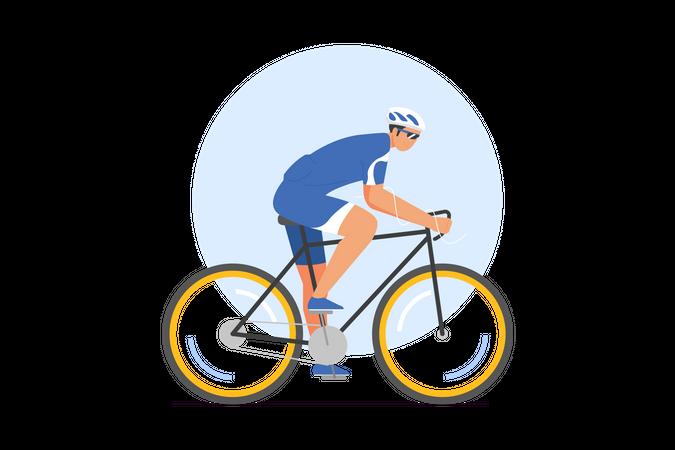 Male cyclist Illustration