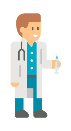 Male doctor Illustration