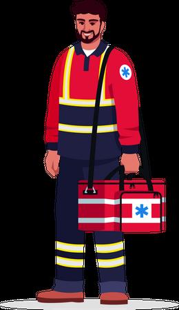 Male emergency medical technician Illustration