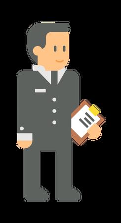 Male employee Illustration