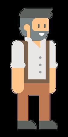 Male farmer Illustration