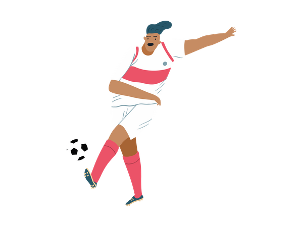 Male football Player Illustration