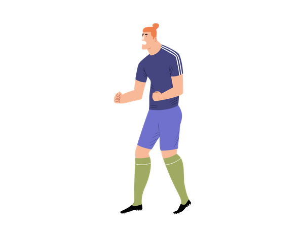 Male Footballer enjoying success Illustration