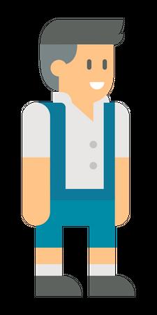 Male manager Illustration