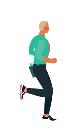 Male marathon runner Illustration