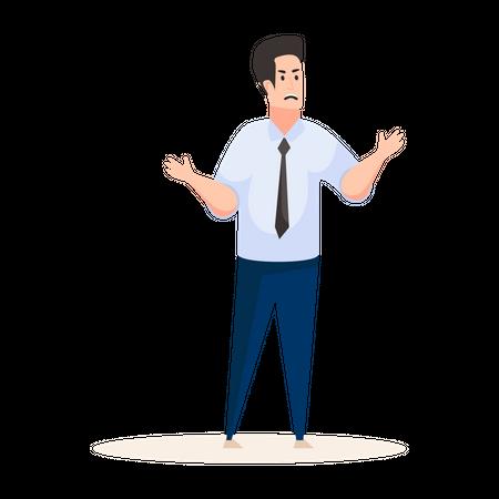 Male office worker Illustration
