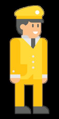 Male officer Illustration