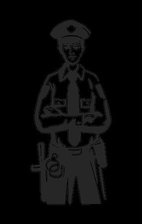 Male police officer Illustration