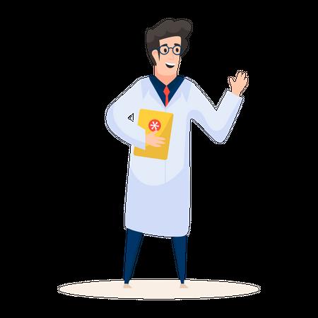 Male professor Illustration