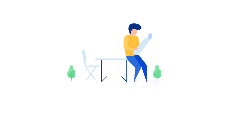 Male Project Manager Illustration
