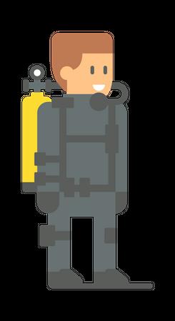 Male rescuer Illustration