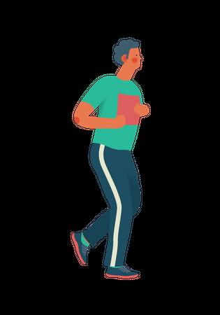 Male runner Illustration