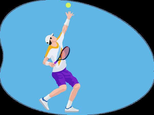 Male Tennis Player Illustration