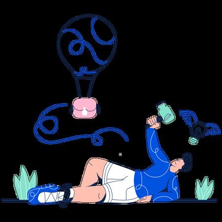 Male Vlogger Illustration