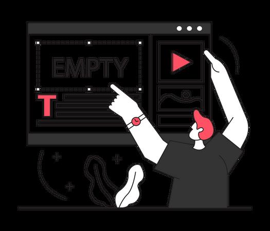 Man designing website Illustration