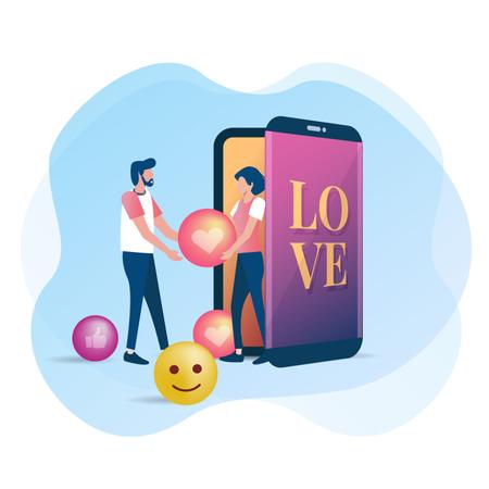 Man expresses his love Illustration