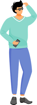 Man in casual clothes Illustration