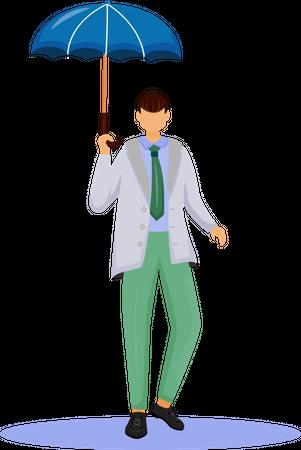 Man in jacket Illustration