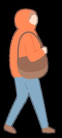 Man in winter jacket Illustration