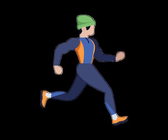 Man jogging Illustration