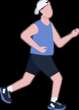 Man jogging outside Illustration