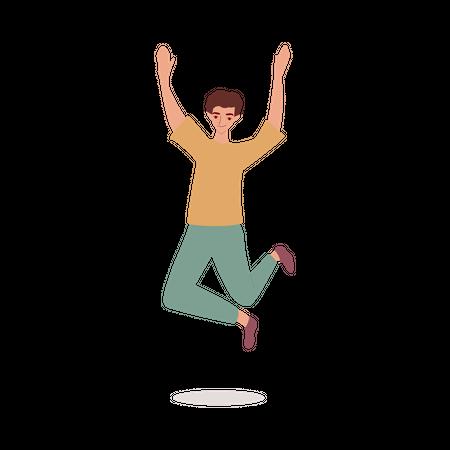 Man jumping in air Illustration