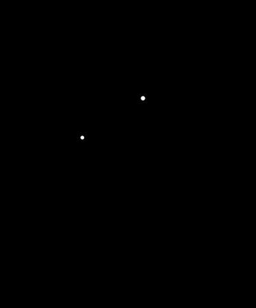 Man looking through telescope Illustration