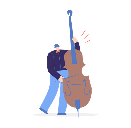 Man Playing violin Illustration