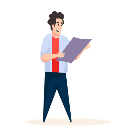 Man Reading news Illustration