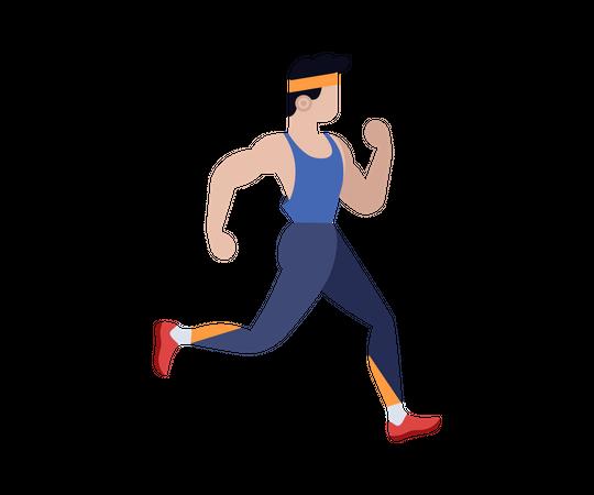 Man running Illustration