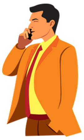 Man talking on mobile Illustration