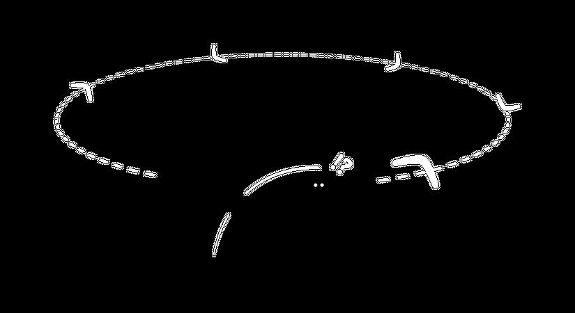 Man throwing a boomerang Illustration
