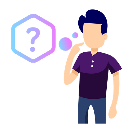 Man with question Illustration