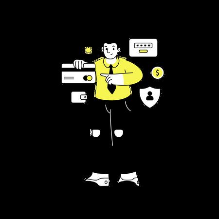 Managing credit card Illustration