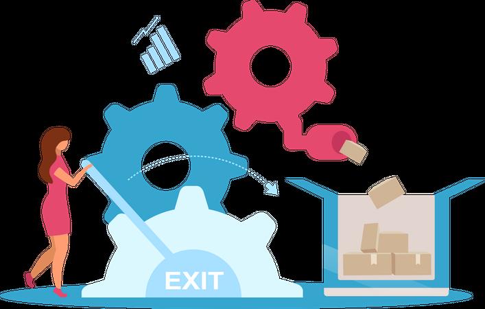 Manufacturer business model Illustration